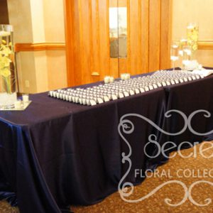 Satin Navy Blue Receiving Table