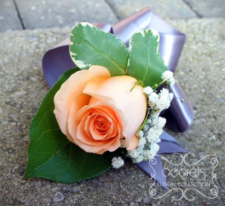 Garden Rose Boutonniere fine peach garden rose boutonniere from shea christine a love for