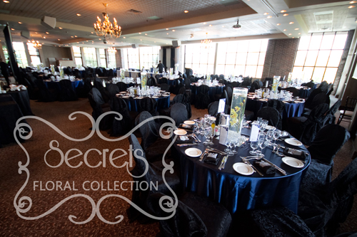 A Navy Blue and Silver Wedding Reception Decoration | Toronto ...