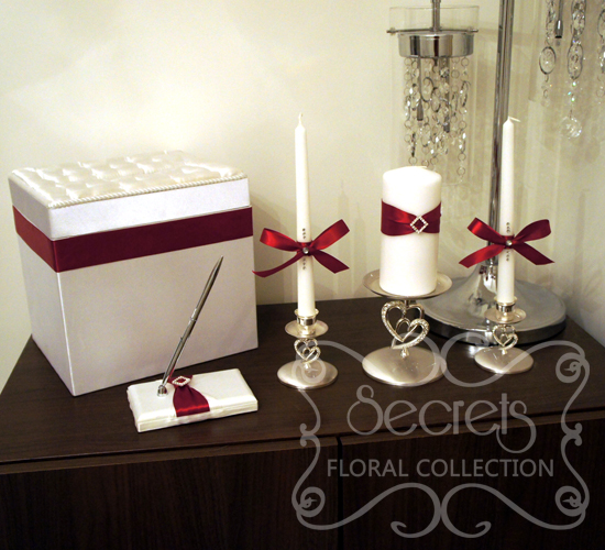 Red Wedding Accessories with Rhinestone Accent (Money Box Signing Pen Unity Candles and & Wedding Accessories | Toronto Wedding Decor | Secrets Floral ... Aboutintivar.Com