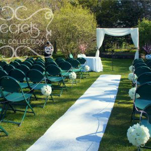 Beautiful setting of the outdoor ceremony