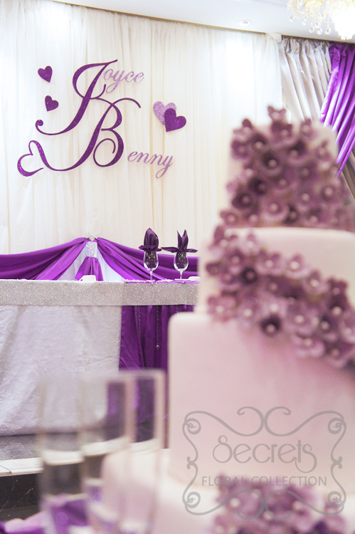 Backdrop is decorated with glittery names secrets floral collection backdrop is decorated with glittery names junglespirit Images