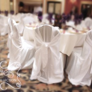 Cream Voile Wedding Chairs Cover