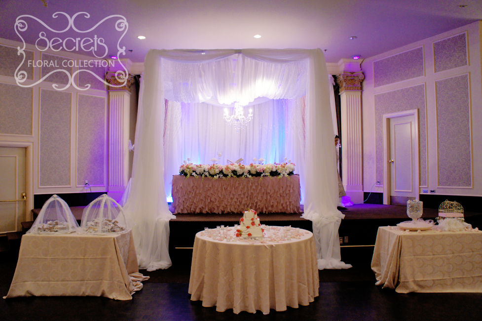 A Crystallized Canopy Wedding Reception Decoration Toronto Wedding