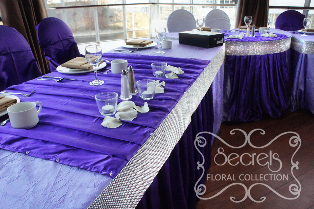 A Purple Wedding Ceremony And Reception Decoration With A Touch Of Bling Toronto Wedding Decor