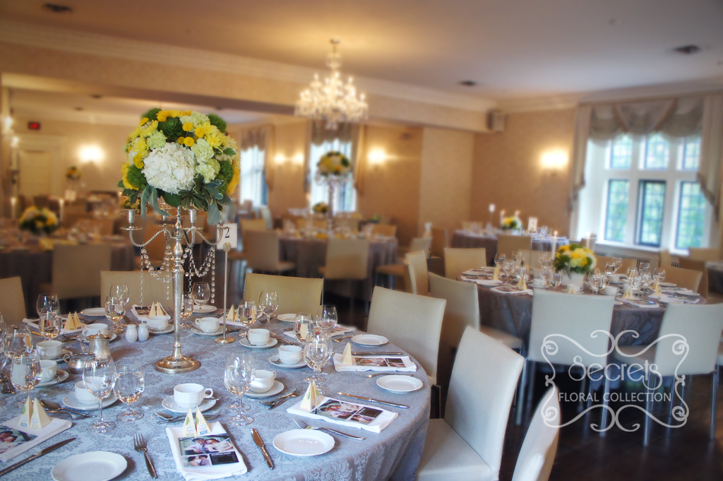 A Modern Yellow And Silver Wedding Decoration Toronto Wedding