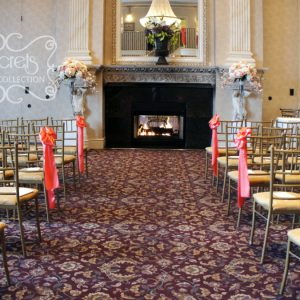 Coral and Peach Wedding Ceremony at Le Jardin Conference and Event Centre - Toronto Wedding Decor Created by Secrets Floral Collection