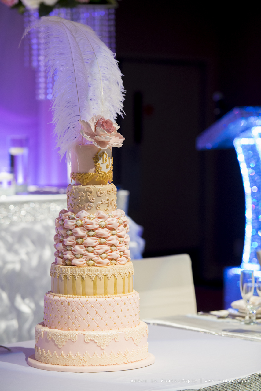 A Romantic Reception Decoration With Ruffles And Crystals Toronto