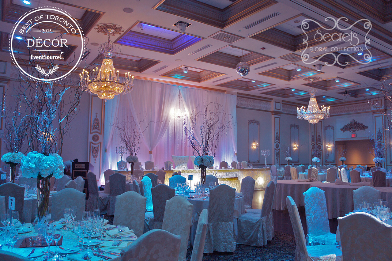 Winter Wonderland Wedding Reception Flowers And Decor Rewarded By EventSource For Best Of Toronto